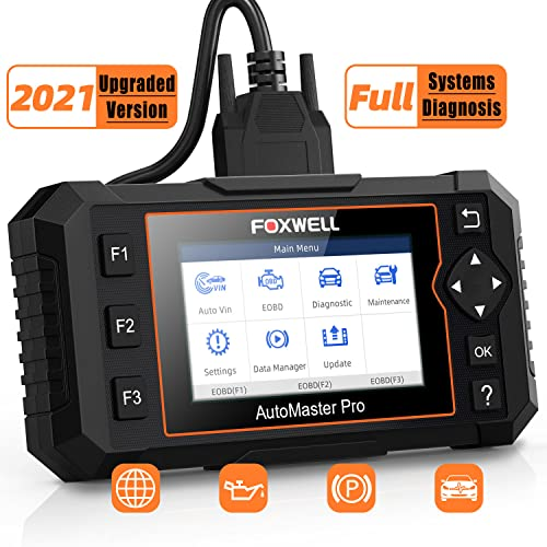 FOXWELL Automotive Obd2 Scanner NT624 Elite Full Systems Diagnostic Scan Tool for All Cars with Oil Light EPB Service Reset, Check Engine ABS SRS SAS EPS HVAC Headlamp Code Reader