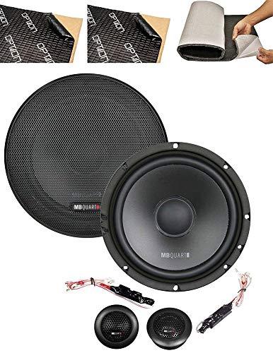 MB Quart QS165-2-Wege Auto Kompo Lautsprecher - 165mm Lautsprecher inklusive Türdämmung - 90 WRMS Belastbarkeit - 60mm Einbautiefe - Impedanz 3 Ohm (Betrieb ohne Endstufe möglich)