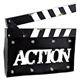 Mayrich 14' x 10.5' Movie Clapperboard Action Sign with LED Lights