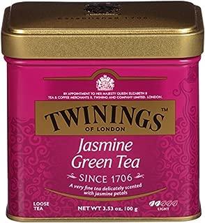 Twinings of London Jasmine Green Loose Tea Tins, 3.53 Ounce (Pack of 6)