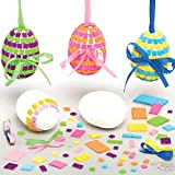 Kit Mosaico Uova di Pasqua Baker Ross (Confezione da 4)- Articoli Creativi di Arte e Artigianato Pasquale per i Bambini da Realizzare e Decorare