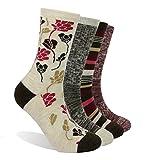 Enerwear-Coolmax 4 Pack Women's Merino Wool Outdoor Hiking Trail Crew Sock (US Shoe Size 4-10, Wine/Brown/Multi)