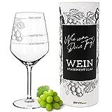 Weinglas XL | Guter Tag, Schlechter Tag, Frag nicht (530ml) | Wie war Dein Tag? in Geschenkbox | Lustiges Geschenk für Frauen & Männer | Geburtstagsgeschenk | Weißweingläser Rotweingläser