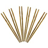 Totally Bamboo 20-2003 Twist Reusable Bamboo Chopsticks, Set of 5 Pairs, 9.75' Long, Honey