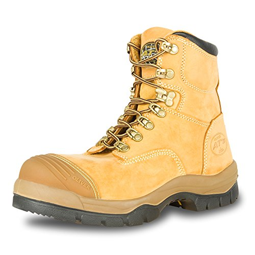 """Oliver 55 Series 6"""" Leather Men's Steel Toe Work Boots, Wheat (55232)"""
