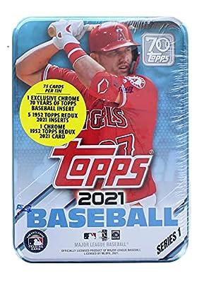 2021 Topps Series 1 Baseball Tin: 75 Cards