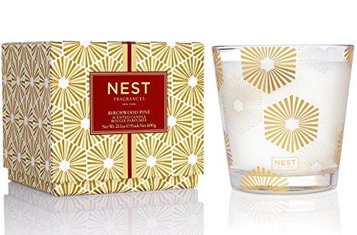 NEST Fragrances 3-Wick Candle- Birchwood Pine , 21.2 oz