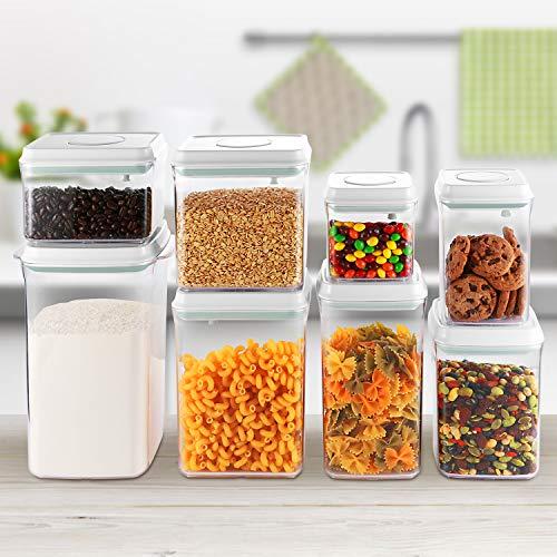 SKYLIGHT保存容器密閉プラスチック密封容器キャニスター密閉容器ポップアップコンテナ食品貯蔵タンク3個セット