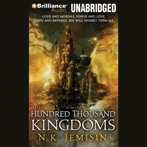 The Hundred Thousand Kingdoms audiobook cover art