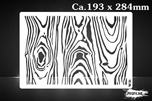 Holz Struktur Airbrush Schablone - Wood Stencil