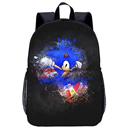 Sonic The Hedgehog - Mochila escolar para niños, diseño de dibujos animados
