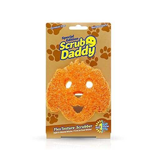 Scrub Daddy Sponge - Special Dog Edition - Scratch Free Sponge, Dishwashing Sponge for Kitchen and Bathroom, FlexTexture, Soft in Warm Water, Firm in Cold, Odor Resistant, 1ct