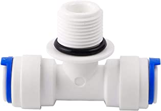 Sourcingmap 10 piezas OD Quick Connect tubo accesorios purificadores de agua Push in a conector filtro tubo manguera Junta para RO sistema de /ósmosis inversa