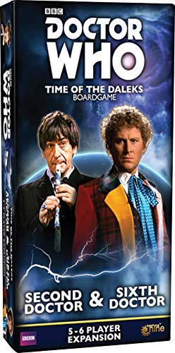 Gale Force Nine GF9DW005 Doctor Who: Time of The Daleks-2nd & 6th Doctors Expansion, Multicolor