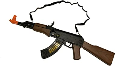 LilPals' 27 Inch AK-47 Toy Machine Gun Rifle – with Dazzling Light, Amazing Sound & Unique Action
