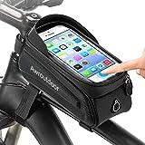 Awroutdoor Bolsas de Bicicleta, Bolsa Bicicleta Manillar de Montaña con Pantalla Táctil y Visera, Bolsa Impermeable para Bicicleta, para Teléfono Inteligente por Debajo de 7 Pulgadas