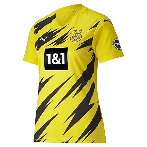 PUMA Damen BVB Home Trikot Replica Womens 20/21 T-Shirt, Cyber Yellow Black, L