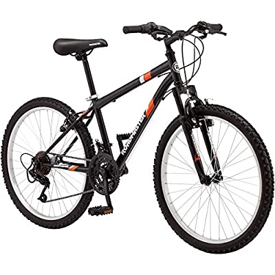 24 Roadmaster Granite Peak Boys Mountain Bike (24 Inches (Wheel Diameter), Black) (Black) by ROADMASTERR3012WMI
