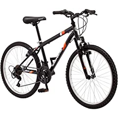 Steel mountain frame and front suspension fork offer a smooth ride 18-speed twist shifters for smooth shifting on the trail Front and rear linear pull brakes for quick, crisp stopping Alloy wheels and strong 3-piece mountain crank add durability Tool...