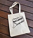 Large Reusable Grocery Market Bag, Governor Ned Lamont The Despicable Sucks CT Tax Tote Bag Cotton Canvas