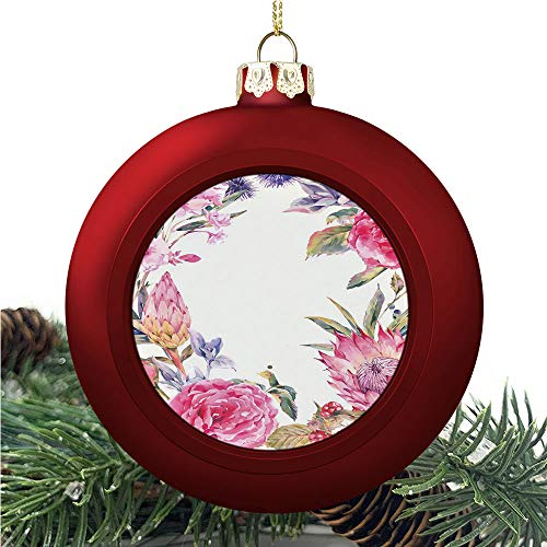 SUPNON Classical Vintage Roses | Christmas Ball Ornaments 2020 Christmas Pendant Personalized Creative Christmas Decorative Hanging Ornaments Christmas Tree Ornament №IS034314