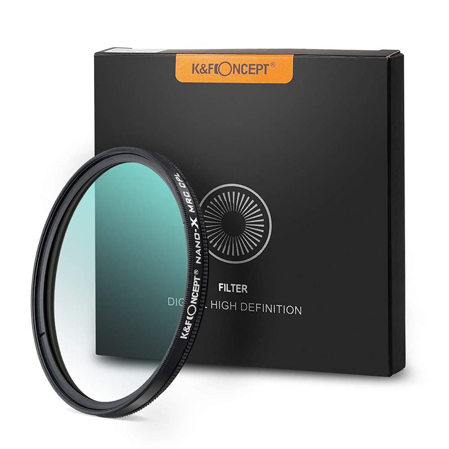 58mm Circular Polarizers Filter, K&F Concept 58MM Circular Polarizer Filter HD 18 Layer Super Slim Multi Coated CPL Lens Filter