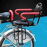 SKYWPOJU Asiento Trasero de Bicicleta para niños con manija de Valla y Respaldo...