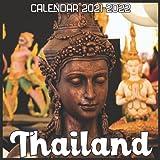 Thailand Calendar 2021-2022: April 2021 Through December 2022 Square Photo Book Monthly Planner Thailand, small calendar