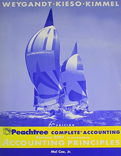 Peachtree Complete Accounting Release 2002 to accompany Accounting Principles, 6e