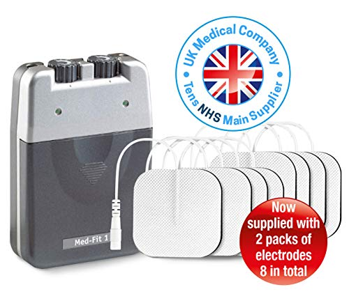 Med-Fit 1 Dual Channel TENS Machine unit for pain relief and pain management therapy, ideal for back...
