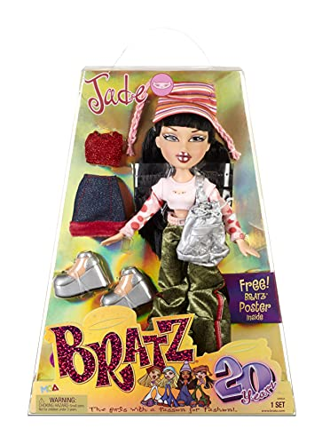 Bratz 20 Yearz Special Anniversary Edition Original Fashion Doll Jade with Accessories and Holographic Poster | Collectible Doll | for Collector Adults and Kids of All Ages