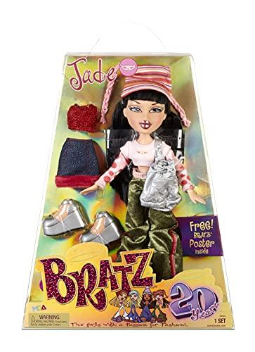 Bratz Edición Especial 20 Años Muñeca de Moda Original Jade - Caja holográfica y...