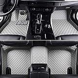 QOHFLD Alfombrillas Coche Personalizadas 3D Protección Alfombras Antideslizante de Cuero Alfombrillas Cobertura Total Accesorios Coche Cuatro Seta para Audi A8/A8L 2011-2017