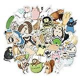WANGPENG Japón Anime Dibujos Animados AnimalesPegatinas deDibujos Animados Impermeablesmonopatín Maleta Guitarra Equipaje portátil Pegatinas 70 Uds