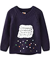 Lieto Rana Girls Striped Slit-Neck Sweaters for Girls 2-10 Years