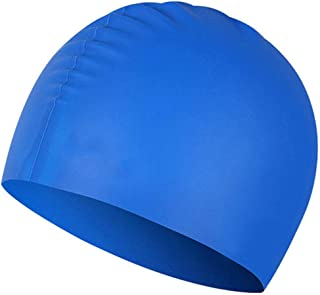 25e67a09 Sunny-Aha Summer Waterproof Silica Gel Swimming Cap Ear Protection Beach Swimming  Hat Suitable for