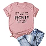 haoricu Womens Letter Print T-Shirt Summer Cute Short Sleeve Graphic Tees Funny Tops Soft Loose T Shirt Top Pink