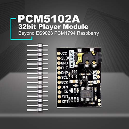 Cosye PCM5102 Audio Board With Stereo Jack Beyond ES9023 PCM1794A DAC For Raspberry Pi pHAT Sound Card I2C IIC Interface Module