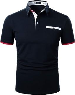 STTLZMC メンズ コットン 半袖 ポロシャツ カジュアル ゴルフウェ テニス シャツ