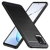 Peakally Samsung Galaxy Note 10 Lite Hülle aus kohlefaserverstärktem Kunststoff [Anti-Slip] [Kratzfest] TPU-Handyhülle Schutzhülle für Samsung Galaxy Note 10 Lite - Schwarz