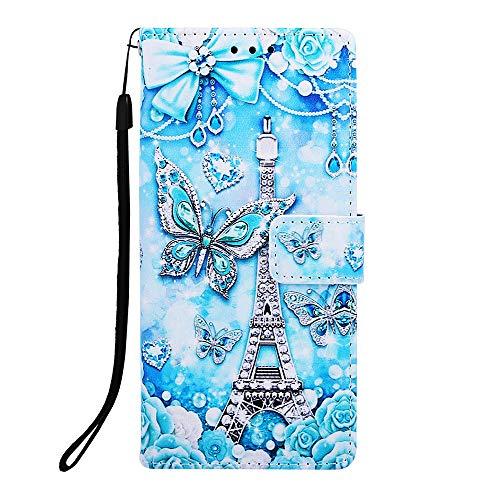 Lomogo Galaxy J6+ (J6Plus) Hülle Leder, Schutzhülle Brieftasche mit Kartenfach Klappbar Magnetverschluss Stoßfest Kratzfest Handyhülle Case für Samsung Galaxy J6 Plus - LOYBO440159 L9