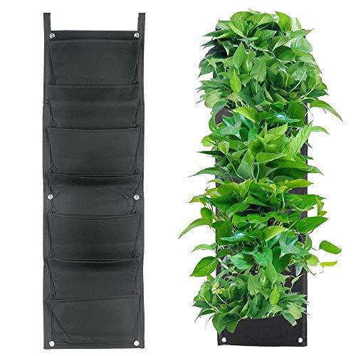 7 tasche - sacchi per piante verticali montaggio a parete crescere borse appese fioriera da giardino