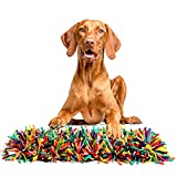 Snuffle Mat for dogs, Durable Machine Washable, Slow Feeding, 22'' × 16'', Encourages Natural Foraging Skills for Dogs or Cats Distracting Smell Sense Training - Perfect for Any Breed(Rainbow)