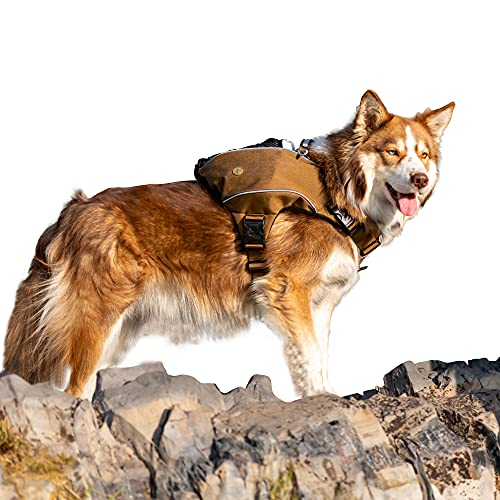 Bum's Pack Dog Backpack, Dog Hiking Backpack, Camping and Travel Saddlebag for Dog, Hiking Pack for Medium & Large Dog… (X-Large, Brown)