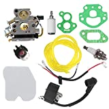 AISEN Carburetor for 574719402 530039143 530039143 545199901 Husqvarna 235 240 Chainsaw Ignition Coil Air Filter Tune Up Kit