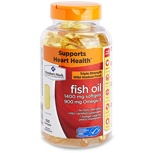 Member's Mark 1400mg Triple Strength Wild Alaskan Fresh Fish Oil 150 ct. A1