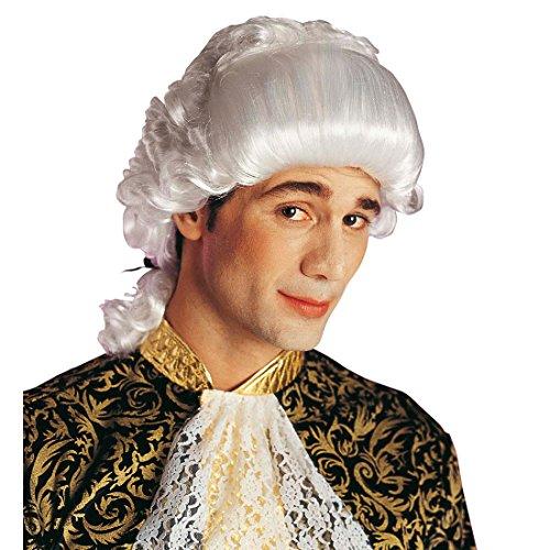 NET TOYS Parrucca Bianca alla Mozart da Uomo Stile Barocco rococò per Costume da Carnevale