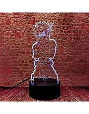 MHA Katsuki Bakugo Optische Illusie 3D Lamp Anime 3D Nachtlampje 16-Kleur Dimbaar met Afstandsbediening Smart Touch, Kerstmis en Verjaardagscadeaus voor jongens en kinderen
