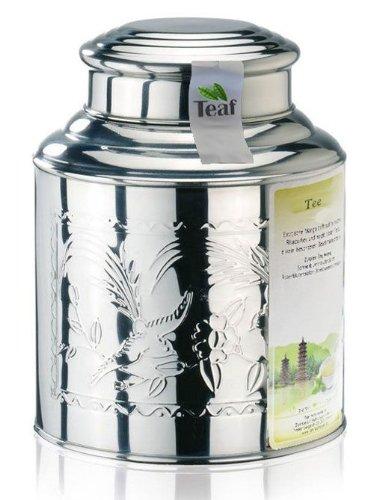 WILDKIRSCHE - Aromatisierter schwarzer Tee - im Tea Caddy (Teedose) - Ø130 mm, Höhe 180mm (500g)