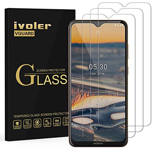 ivoler 3 Stücke Panzerglas Schutzfolie für Nokia 5.3, Panzerglasfolie Folie Bildschirmschutzfolie Hartglas Gehärtetem Glas BildschirmPanzerglas Bildschirmschutz für Nokia 5.3